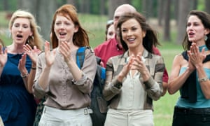 Soccer moms. (Not mums.) As depicted by Judy Greer and Catherine Zeta-Jones in the 2012 film Playing for Keeps.