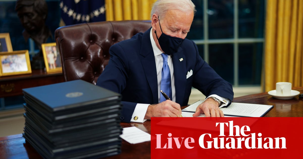 Biden inauguration: 46th president to start first full day in office – live reaction