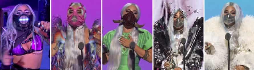 Lady Gaga's mask-tastic looks at last month's VMAs.