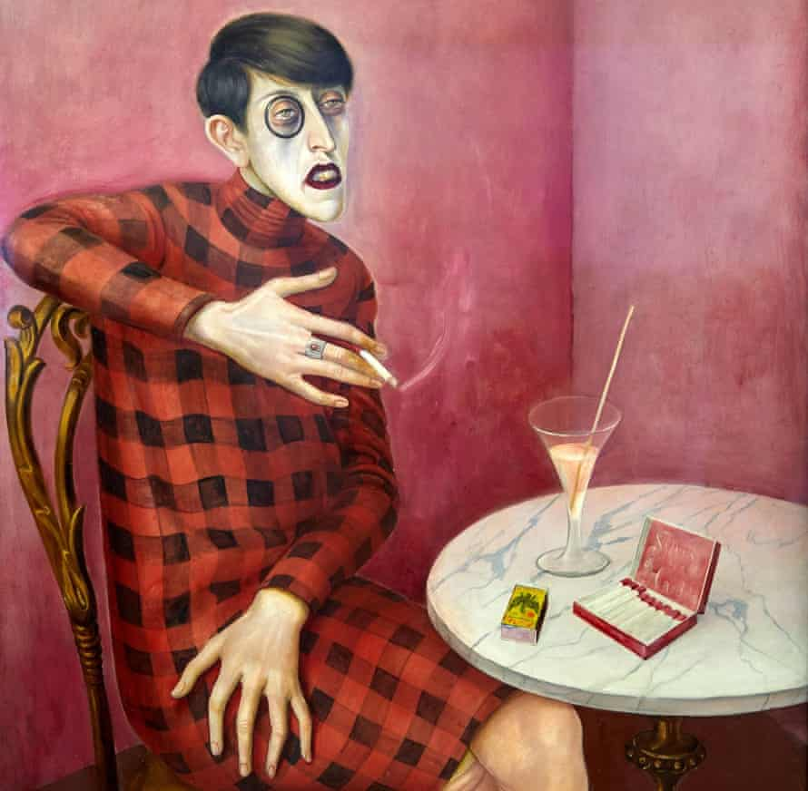 Decadent days … a detail from Otto Dix's 1926 portrait of the journalist and poet Sylvia von Harden.