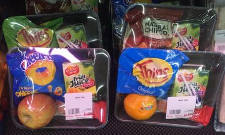 Fruit in plastic packaging