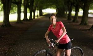 Iron woman: Chrissie Wellington, ready to ride.