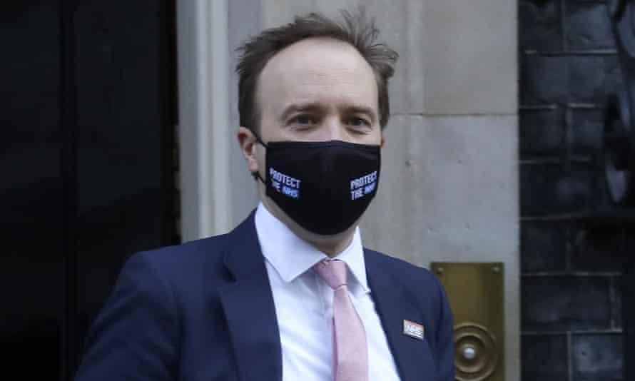 Matt Hancock leaving Downing Street
