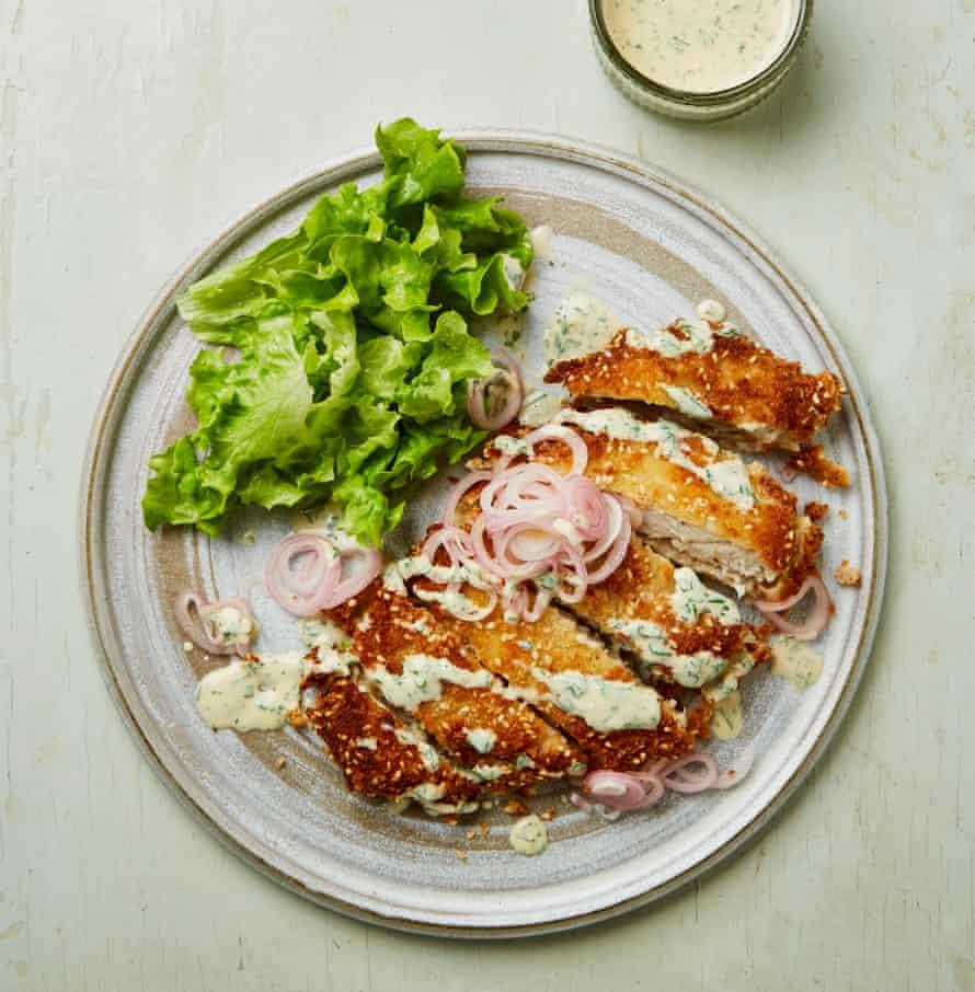 Yotam Ottolenghi's tahini chicken schnitzel.