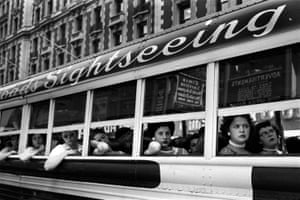 Sightseeing Bus NYC, 1956