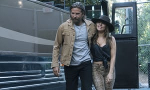 Bradley Cooper as Jack and Lady Gaga as Ally in A Star Is Born.