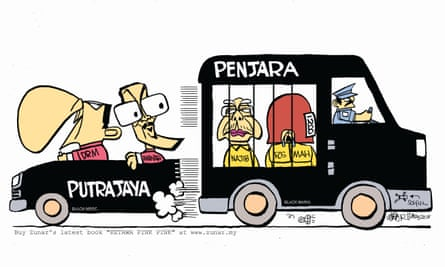 Zunar's cartoon after the election result.