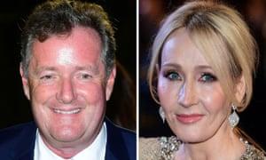 Piers Morgan and JK Rowling