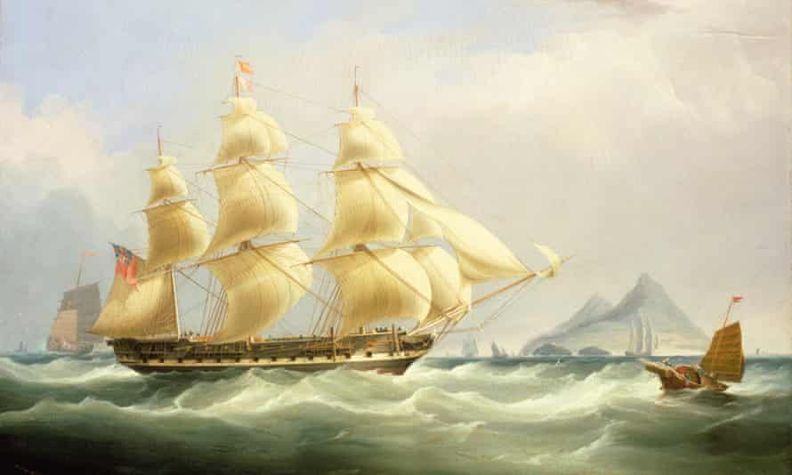 Afloat on the murky waters of greed and capital … an East Indiaman trading ship.