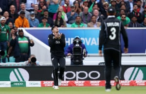 Guptill catches Mosaddek, out for 11.