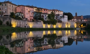 Reflections: the river Tiber passing through Umbertide.
