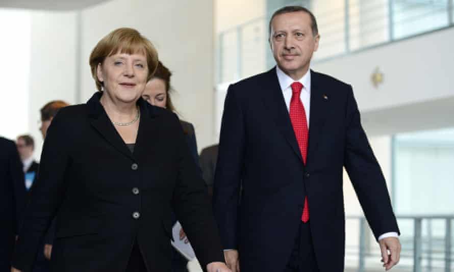 Angela Merkel and Erdoğan in Berlin in 2012.