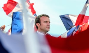 Emmanuel Macron campaigning before the second round vote.
