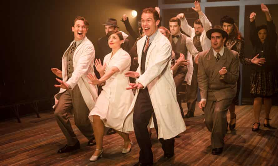 Gary Tushaw, centre, in Rodgers and Hammerstein's Allegro at Southwark Playhouse, London