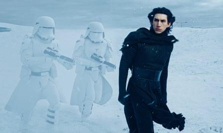 Adam Driver as Ben Solo/Kylo Ren in Star Wars: The Force Awakens.
