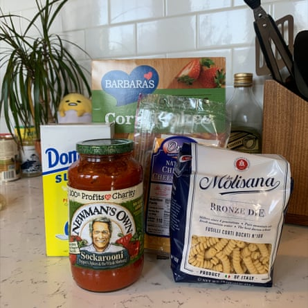 The ingredients for Robert Pattinson's pasta.