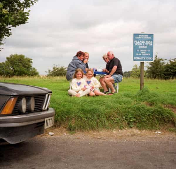 Layby picnickers by Peter Dench.