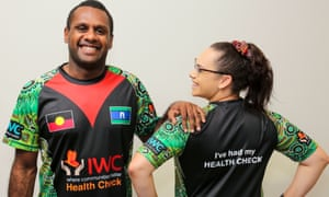 Kane Chapman and Sharnese Mills of the Indigenous Wellness Centre.
