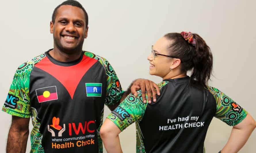 IWC Indigenous Health Practitoner Kane Chapman and IWC Medical Centre receptionist Sharnese Mills.