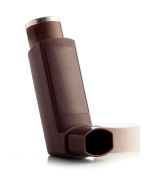 The brown inhaler is the preventer and the blue inhaler is the reliever.