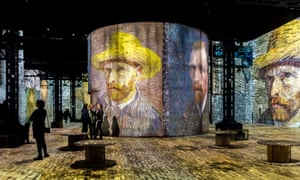 Vincent van Gogh's life is the focus of an immersive experience at L'Atelier des Lumières, Paris' first digital art museum (until 31 December 2019). In a disused foundry in the city's bohemian 11th arrondissement, hundreds of the Dutchman's paintings have been transformed using art and music technology. For 35 minutes, visitors roam aroud work from the dreamy Sunflowers (1888) to the tormented spires of Starry Night (1889).