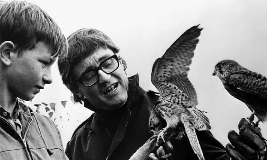 Tony Garnett and David Bradley, left, during the filming of the 1969 film Kes.