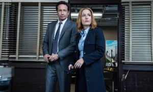 The truth is still out there ... David Duchovny and Gillian Anderson in The X Files.