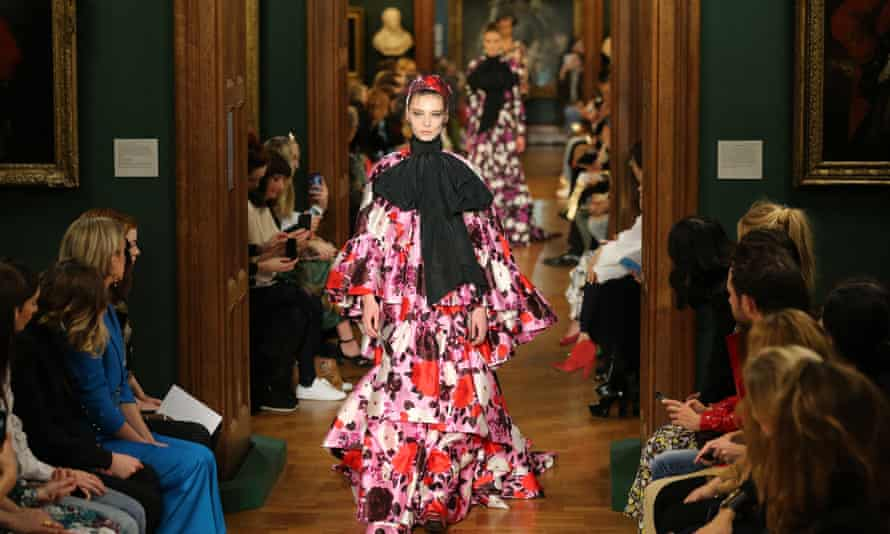 The Erdem show at the National Portrait Gallery.