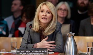 The work and pensions secretary Esther McVey.