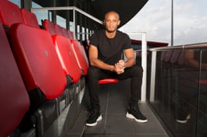 Vincent Kompany, photographed at Old Trafford cricket ground in Manchester.