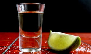 Shot with slice of lime