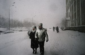 Lenin Avenue, Vorkuta Lenin Avenue runs through the centre of the town. Most of the theatres, cinemas and other cultural centres have closed, but the heavy snow does not deter inhabitants from taking a walk along the 6km-long avenue.