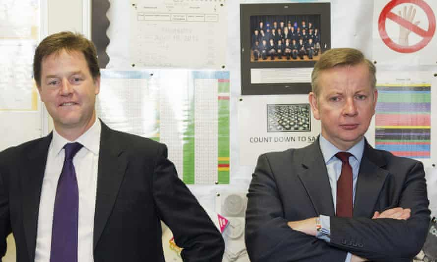 Nick Clegg and Michael Gove in September 2012.