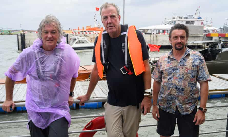 Abandon ship! ... James May, Jeremy Clarkson and Richard Hammond in The Grand tour