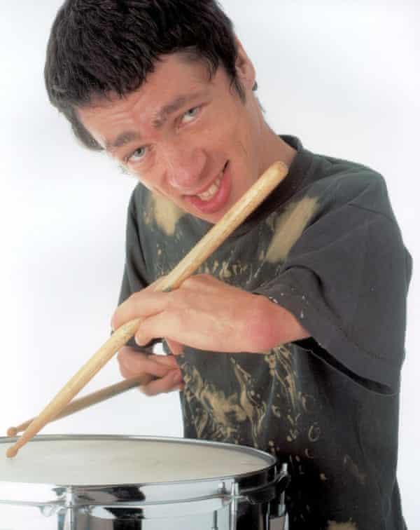 Punk drummer … Fraser in the Channel 4 documentary Born Freak.