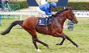 The rest are miles out of shot as Ghaiyyath and William Buick win Sunday's Grosser Preis von Baden.