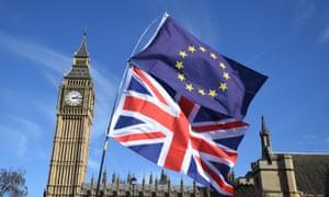 EU flag and the Union Jack