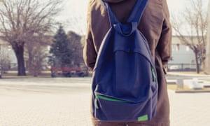 Backpack schoolgirl