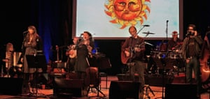 A family affair … from left, Marry Waterson, Eliza Carthy, Martin Carthy and Joe Gilhooley.