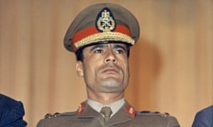 Muammar Gaddafi, Libyan strongman at Cairo Airport in 1970.
