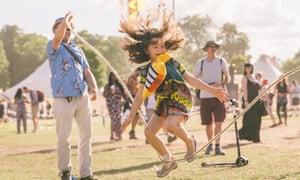 Throwing shapes … hair-raising fun at Citadel festival.