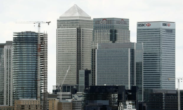 The Canary Wharf finance district of London. Photograph: Odd Andersen/AFP/Getty Images