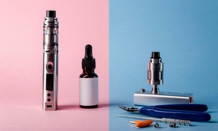 Tools of the trade ... e-cigarette equipment...