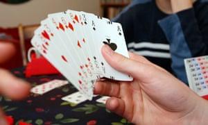 A game of bridge.
