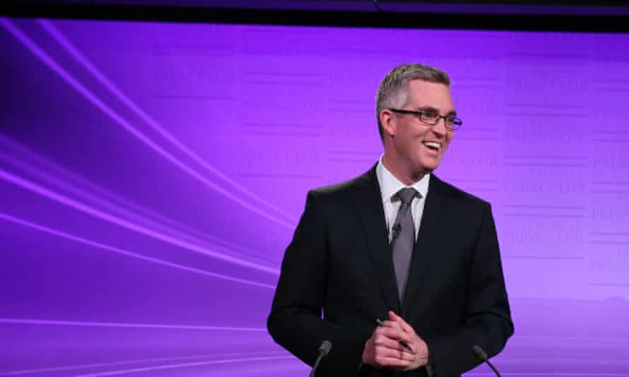 Host David Speers from Sky TV at the first federal election debate in 2013.