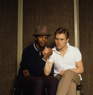 Roger and Dave Wakeling of The Beat at the Roundhouse studios in London in 1981