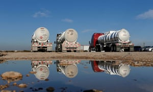 Oil tankers in Mentone, Texas. Covid-19 exacerbated a crisis which had been developing from as far back as the end of 2018.