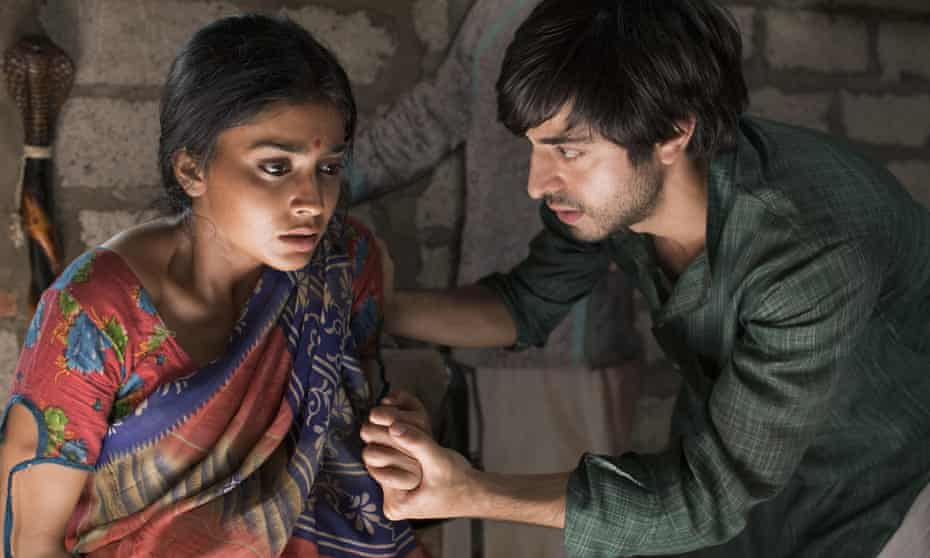 Shriya Saran as Parvati and Satya Bhabha as Saleem in the film adaptation of Midnight's Children.