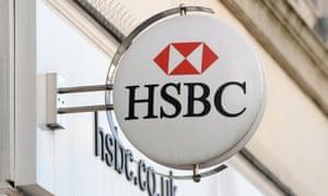 An HSBC sign