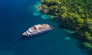 Come on in … a swim stop off Jakljan, a small island near Dubrovnik, Croatia